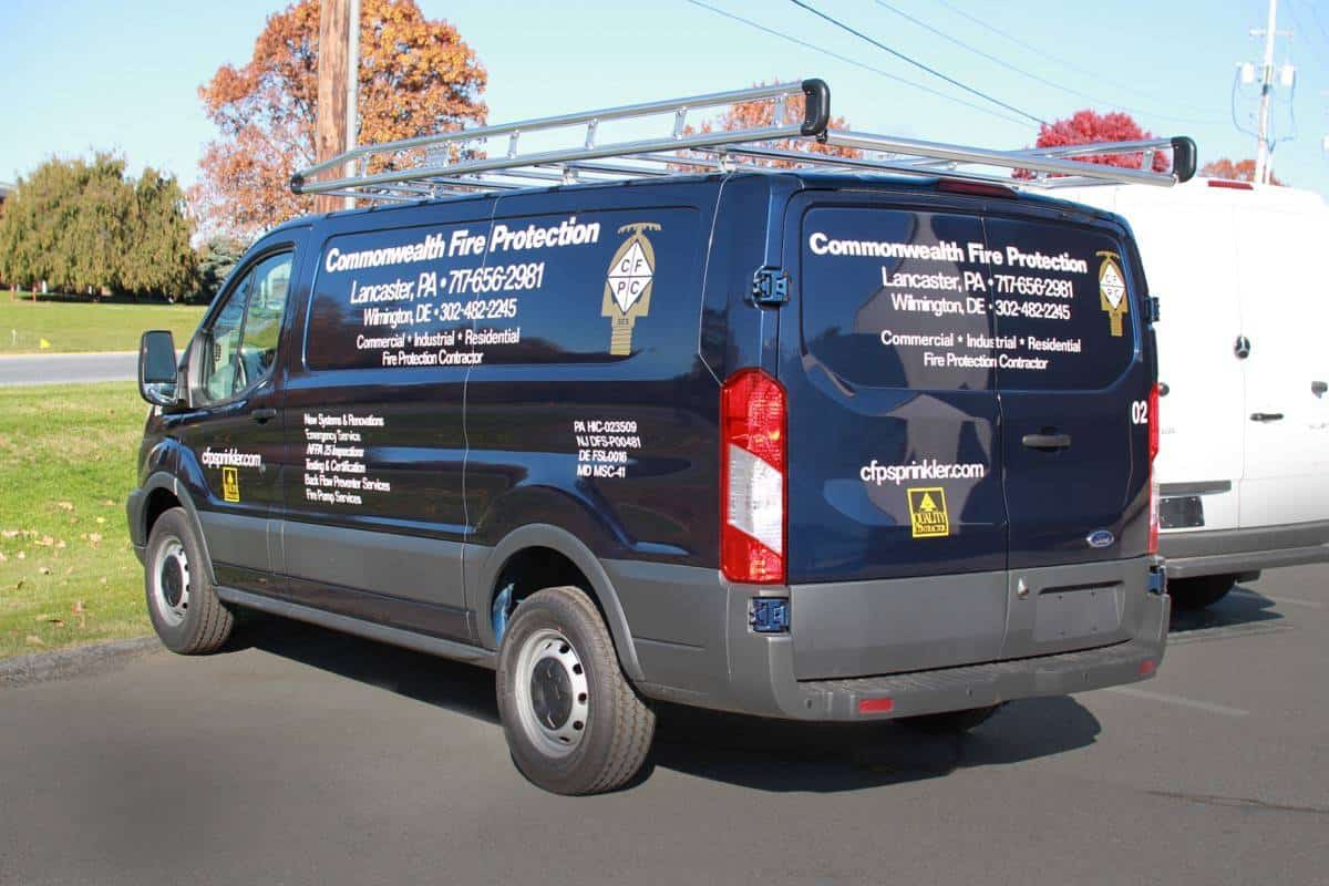 Commonwealth Fire Protection Van