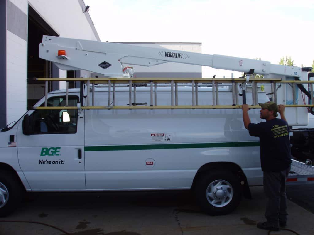 Ergonomic Ladder Rack