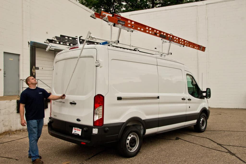 Ford Transit Roof Rack >> Custom Ladder Racks for Vans | Commercial Van Solutions LLC
