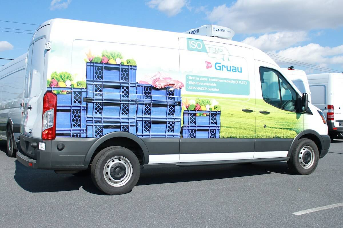 Refrigerated Home Delivery Vans From Gruau Commercial
