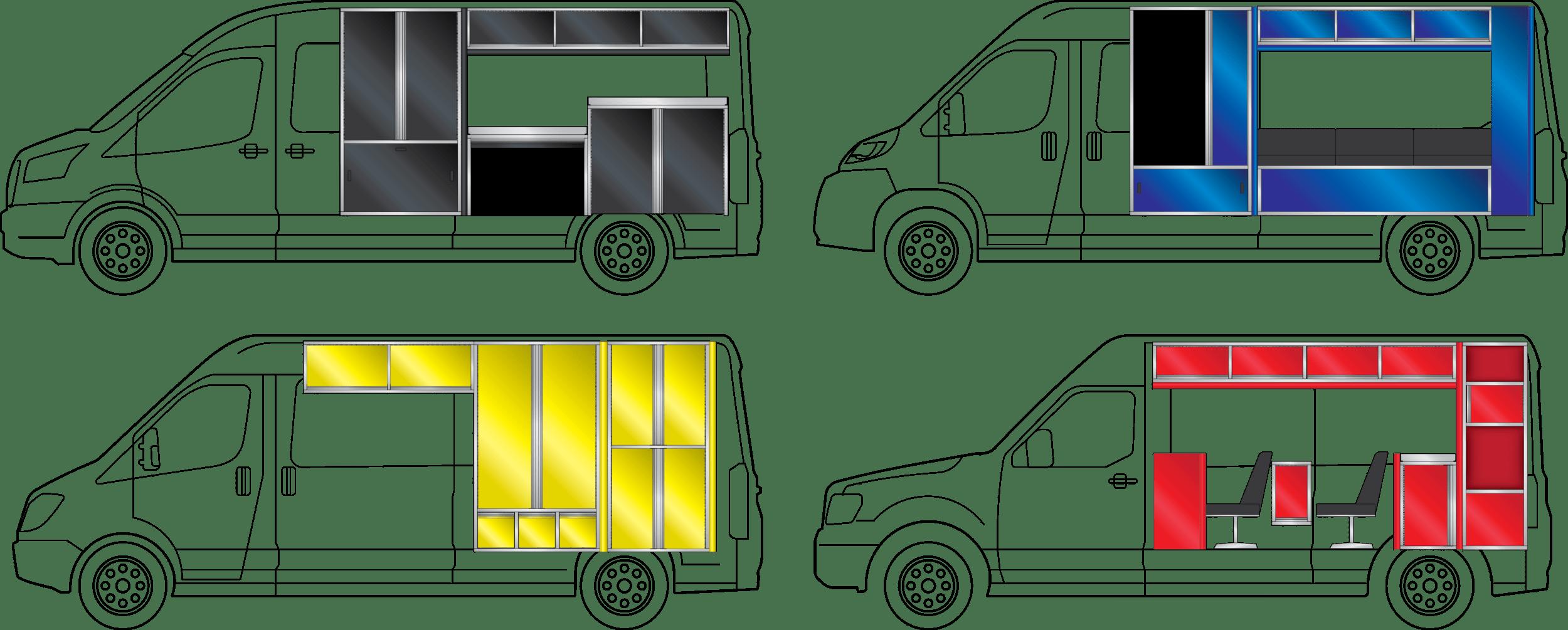 mobile van cabinets
