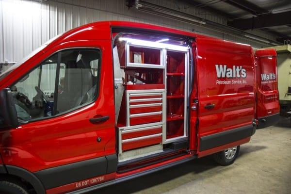custom van cabinets