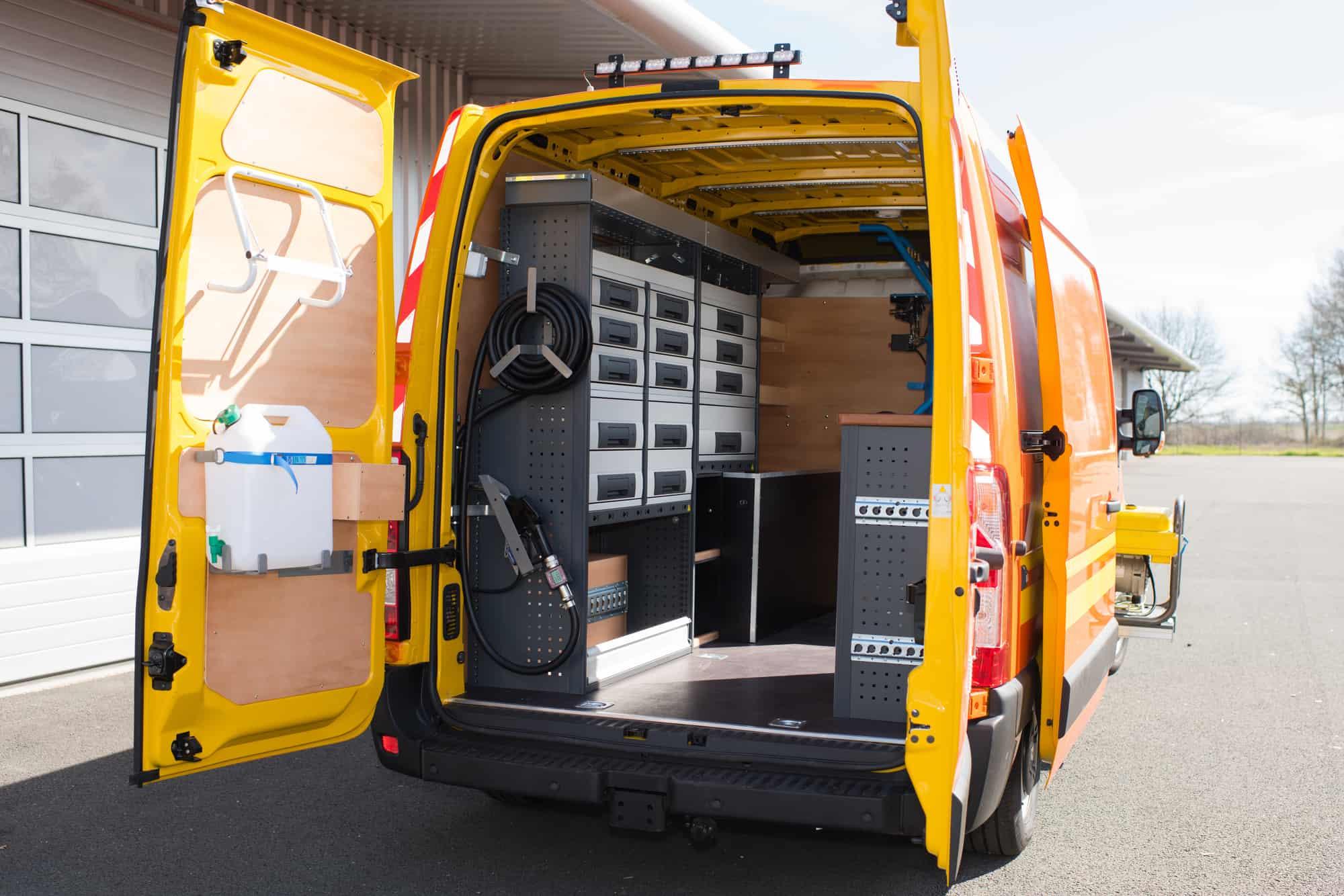 commercial van upfitting