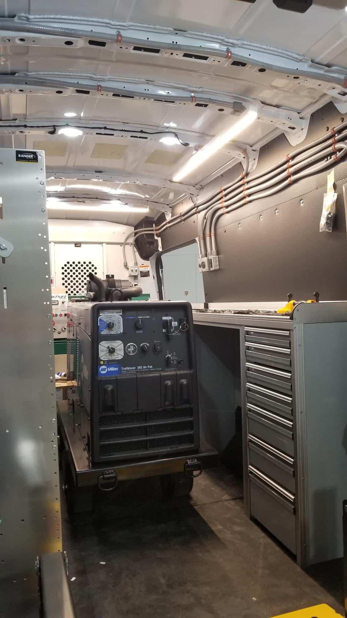 Miller Welder in Custom Welding Van