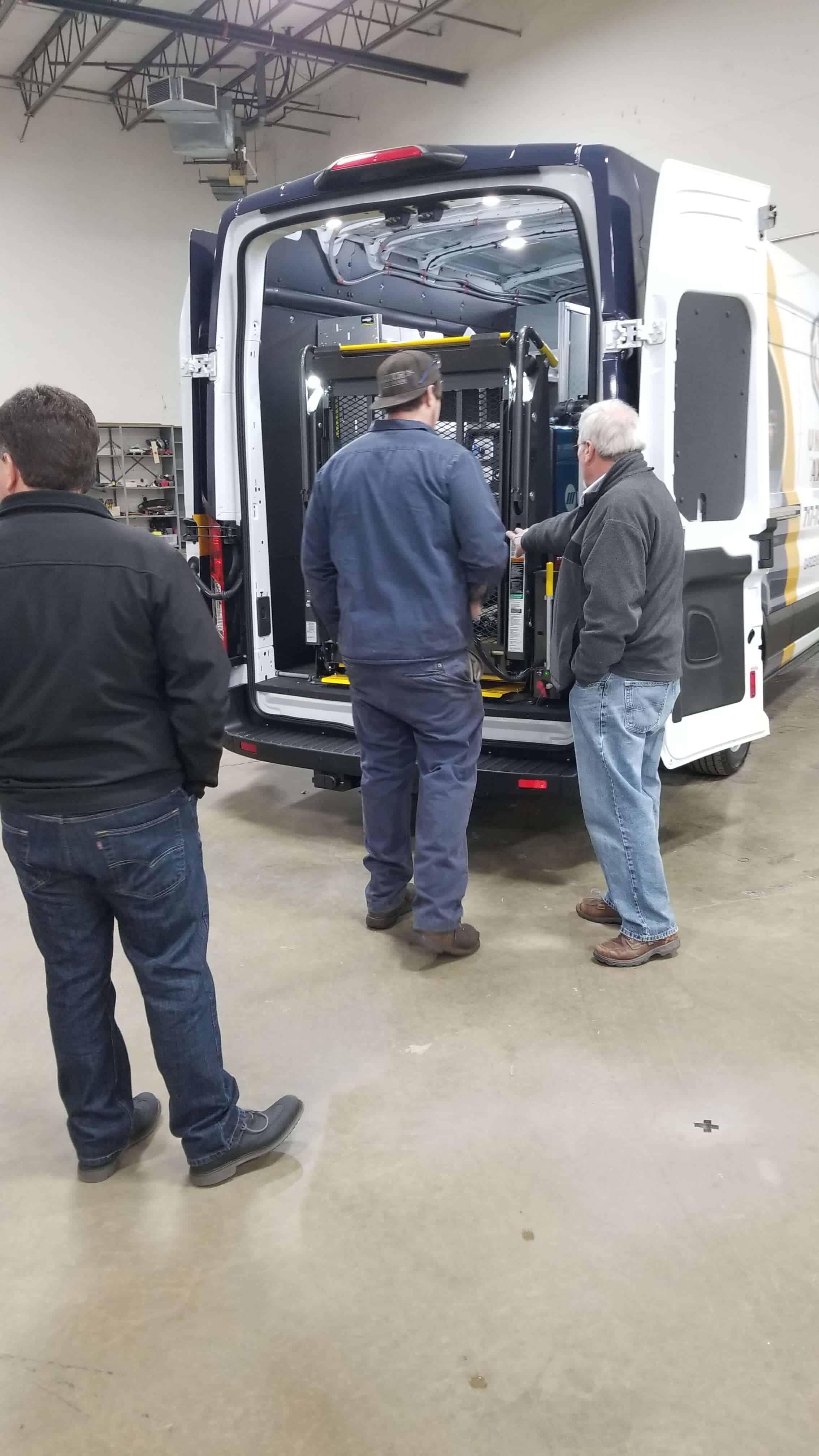 CVS Team Presenting the Van