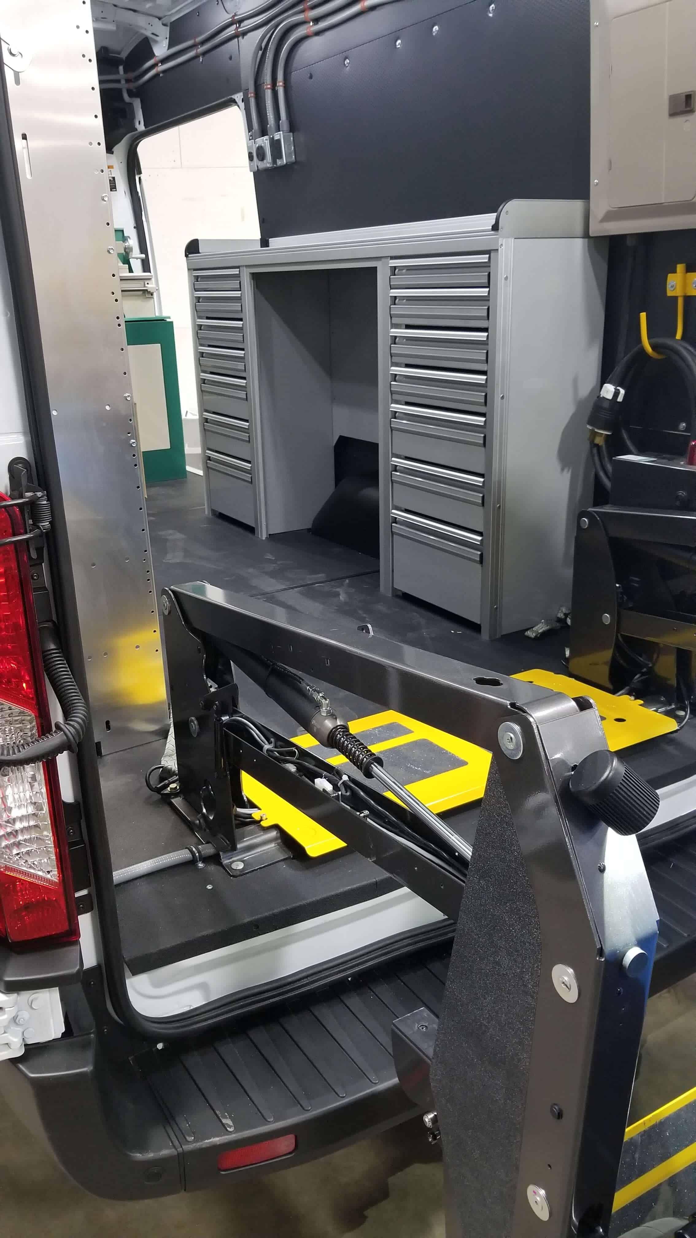 Custom Welding Van Interior